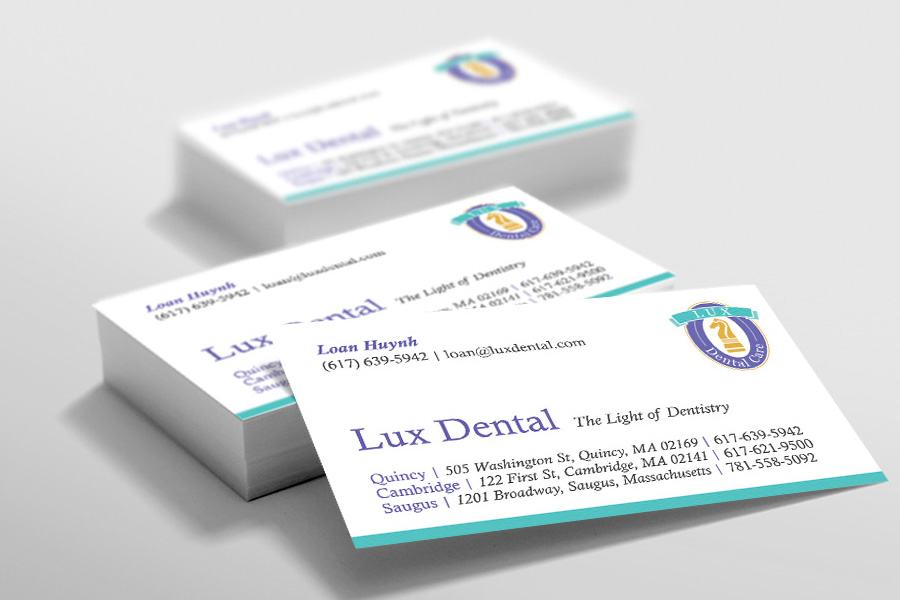 Lux dental optamark graphics lux dental business card colourmoves